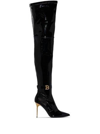 Balmain XX thigh-high boots