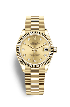 Rolex Datejust 31 Watch: 18 ct yellow gold - M278278-0009