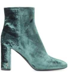 Loulou 95 Velvet Ankle Boots - Saint Laurent | mytheresa