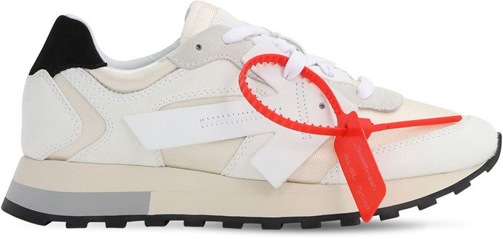 30mm Hg Cotton Canvas & Suede Sneakers