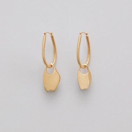 Asymmetrical Petal Hoop Earrings | Cuyana
