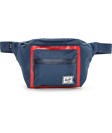 Herschel Supply Co. Seventeen Navy & Red Co.lor Blocked Fanny Pack | Zumiez