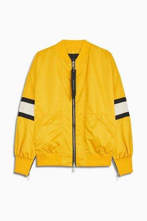 mens yellow bomber jacket