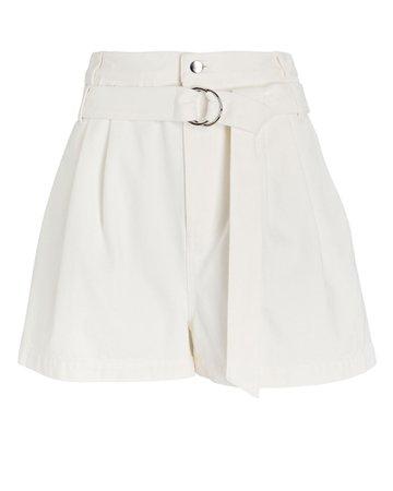 Tibi Belted Denim Shorts   INTERMIX®