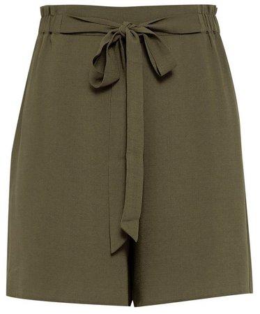Khaki Paperbag Shorts