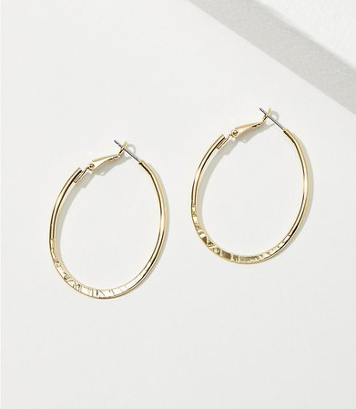 Oval Hoop Earrings | LOFT