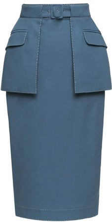 Appointment Cotton-Blend Pencil Skirt