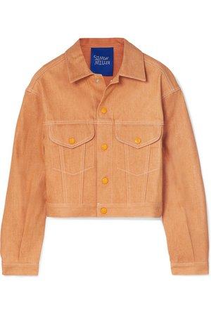 SIMON MILLER | Morgo cropped denim jacket | NET-A-PORTER.COM