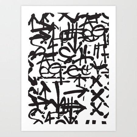 Graffiti Pattern Art Print by theoldartstudio | Society6