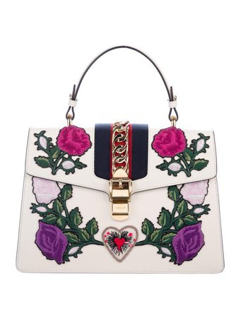 Gucci Medium Embroidered Sylvie Bag - Handbags - GUC241712 | The RealReal