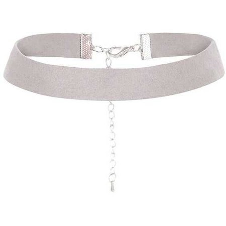 Grey Choker Necklace