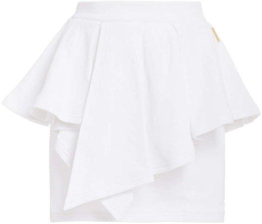 Ruffled Cotton Mini Skirt