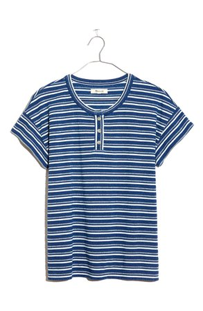 Madewell Stripe Brother Henley Tee | Nordstrom