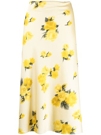Shop Blumarine floral print midi skirt with Express Delivery - FARFETCH