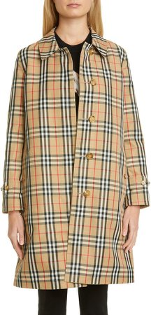 Draper Reversible Check Raincoat