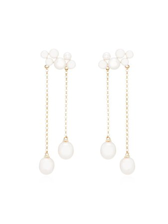 Anissa Kermiche 14kt Gold Wuthering Heights Pearl Drop Earrings - Farfetch