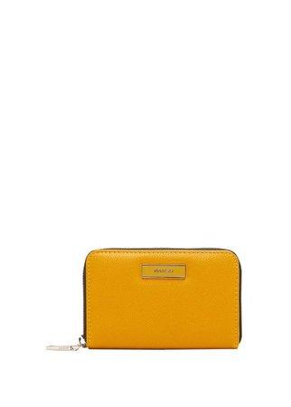 MANGO Zip metallic wallet