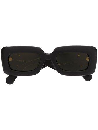 Gucci Eyewear GG0816S rectangular-frame sunglasses black GG0816S001 - Farfetch