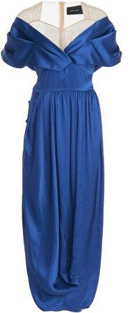 Simone Rocha Asymmetric Silk Dress