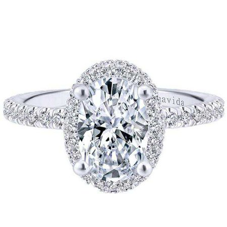 Gabriel Amavida Oval Double Halo Diamond Engagement Ring