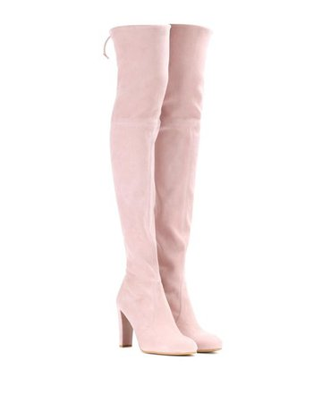 Lyst - Stuart Weitzman Highland Suede Over-the-knee Boots in Pink