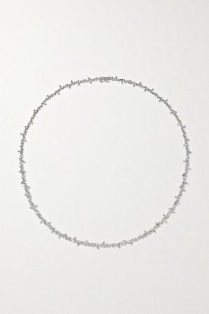 White gold 18-karat white gold diamond necklace | Suzanne Kalan | NET-A-PORTER