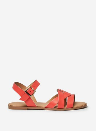 Wide Fit Coral Comfort 'Fly' 2 Part Sandals | Dorothy Perkins