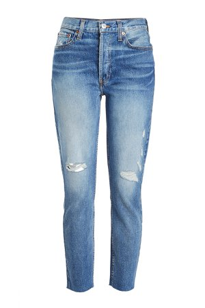 High Rise Ankle Crop Jeans Gr. 27