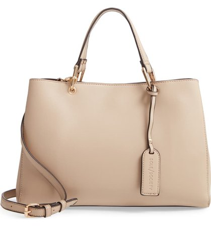 Sole Society Faux Leather Satchel   Nordstrom