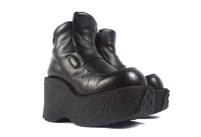 90'S DESTROY MEGA platform boots / chunky platforms / 90s | Etsy
