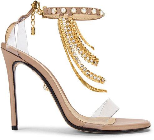 Giada Heel in Campari Nude | FWRD