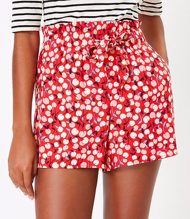 The Paperbag Pull On Short in Cherry