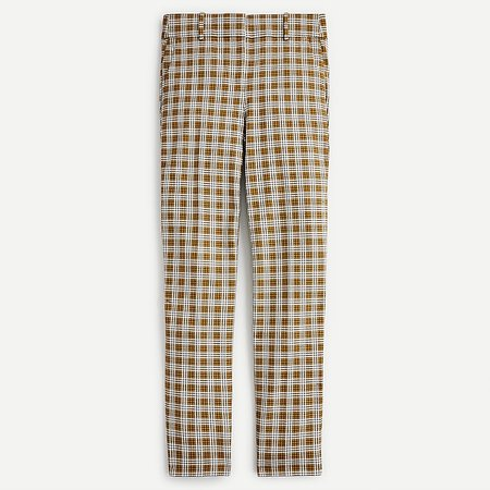 J.Crew: Cameron Slim Crop Pant In Gold Plaid For Women