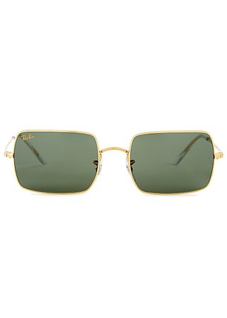 Ray-Ban Gold-tone rectangle-frame sunglasses - Harvey Nichols