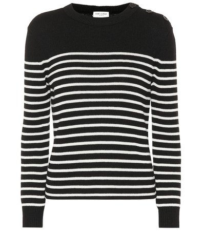 Striped Cotton And Wool Sweater | Saint Laurent - Mytheresa