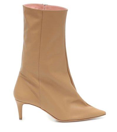 Acne Studios - Beau leather ankle boots | Mytheresa