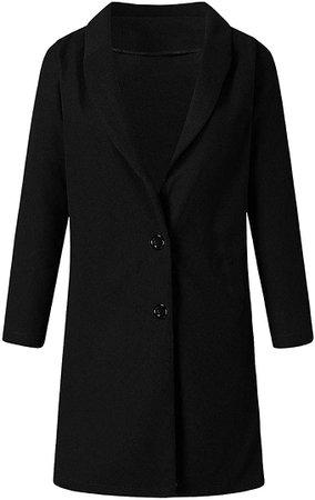 LISTHA Long Coat Women Lapel Parka Overcoat Winter Outwear Jacket Warm Cardigan Green at Amazon Women's Clothing store
