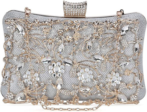 Tanpell Womens Crystal Evening Clutch Bag Wedding Purse Bridal Prom Handbag Party Bag Champagne: Handbags: Amazon.com
