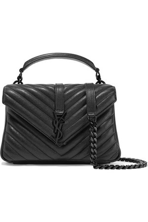 Saint Laurent | College medium quilted leather shoulder bag | NET-A-PORTER.COM