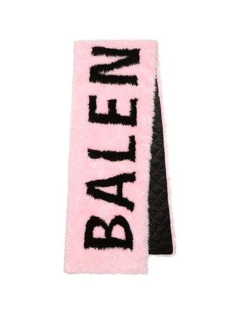 Balenciaga giant faux fur scarf pink