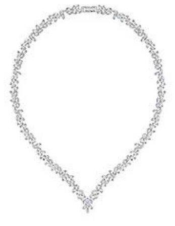 swarovski diapason v-necklace necklace v jewelry crystal diamond