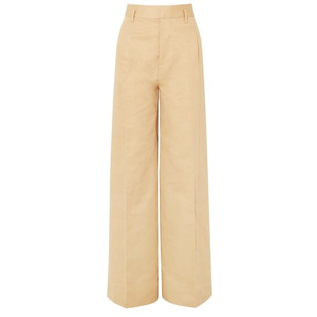 Rent or Buy Frame Cotton And Linen-Blend Wide Leg Trousers from MyWardrobeHQ.com