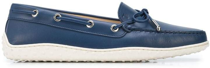 lace-up leather loafers
