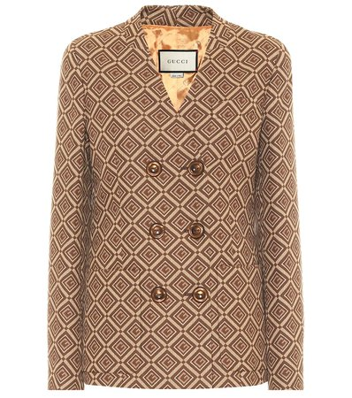 Gg Cotton-Blend Jacquard Blazer - Gucci | Mytheresa