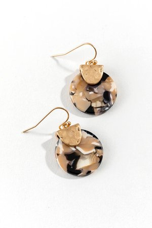 Bailee Resin Circle Drop Earrings | francesca's