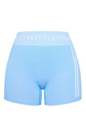 Prettylittlething Blue Seamless Cycle Short | PrettyLittleThing