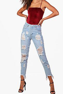 Tall Hollie Eyelet And Ripped Jeans