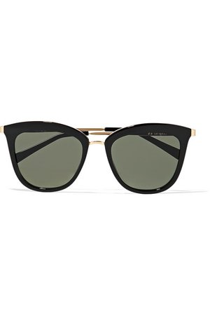 Le Specs | Caliente cat-eye acetate and gold-tone sunglasses | NET-A-PORTER.COM