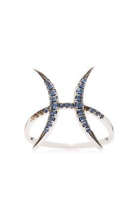 Runa Pisces 9K Gold Sapphire Ring