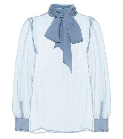 Saint Laurent, Sheer Silk Chiffon Blouse